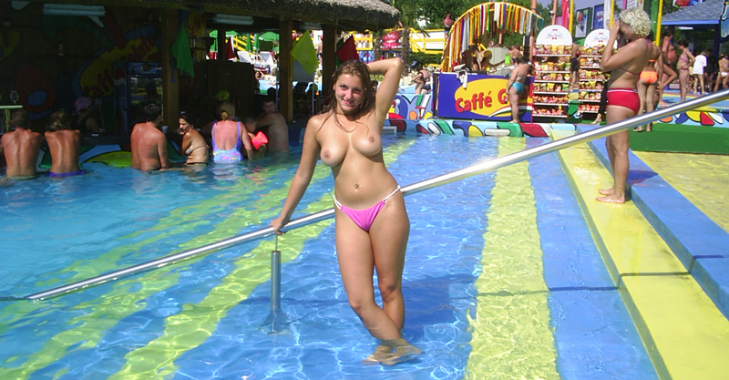 Thought naked girls at water park